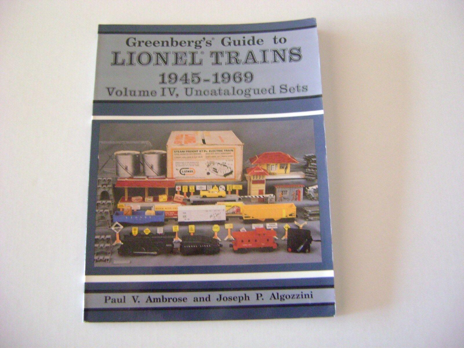 verdeberg's Guide To Trenes Lionel 1945-1969 Vol. IV, uncatalogued conjuntos