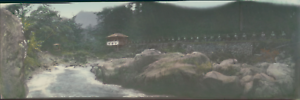 Japan-Panoramic-View-Nikko-Vintage-silver-print-Vue-panoramique-Tirage-ar