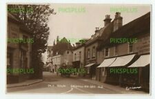 OLD POSTCARD OLD TOWN BEXHILL ON SEA SUSSEX NOTE SHOPS REAL PHOTO USED 1933