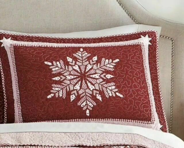 Full Size Embroidewred Snowflake Ivory Sheet Set NWT Polyester