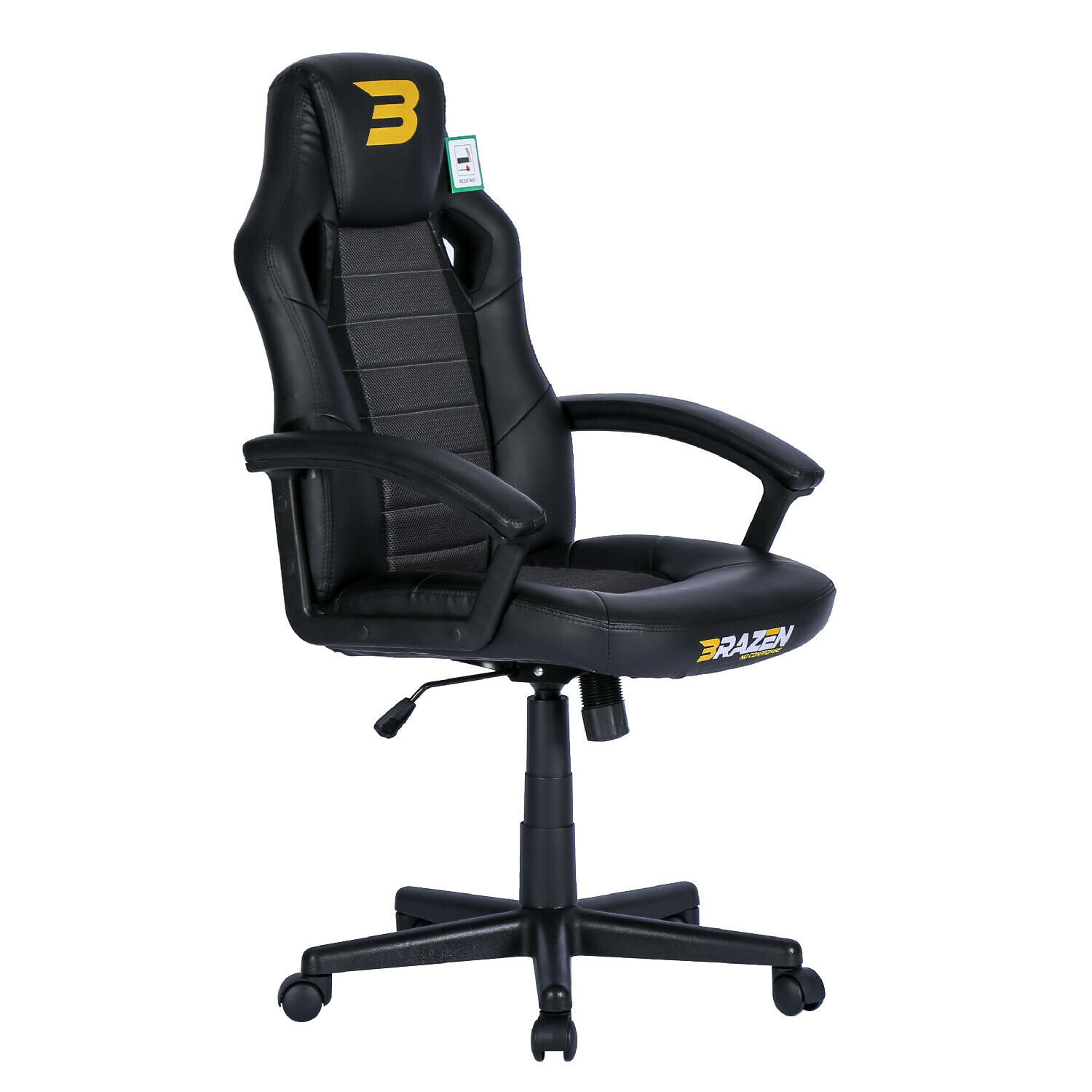 BraZen PC Gaming Chair - Salute Office Chair - Black