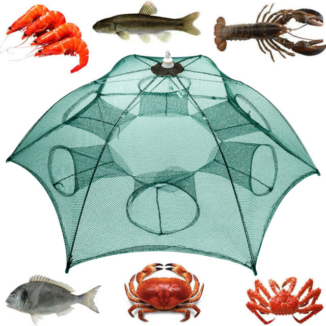 3 Size Foldable Crab Fish Crawdad Shrimp Minnow Fishing Bait Trap HOT J1L6