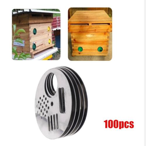 "100pcs Beehive Nuc Box Entrance Gate Stainless Steel Beekeeping Equipment 2.68/"""