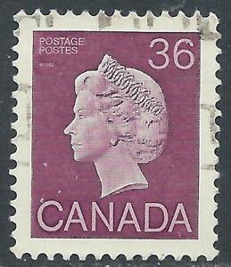 Canada #926A(1) 1987 36 cent PLUM QUEEN ELIZABETH II Used CV$3.00