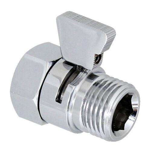 Flow Control Shut OFF Valve For Shower Head Hand Bidet Sprayer Water Saving