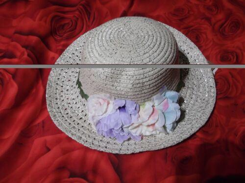 Filles Floral chapeau paille et Sac Assorti 2-4 ans Neuf avec étiquettes