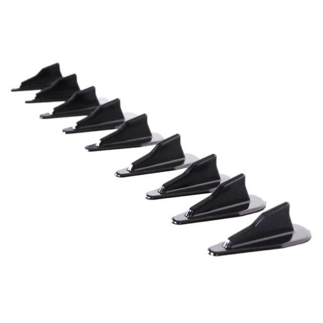 Universal EVO-Style ABS Roof Shark Fins Spoiler Wing Kit Vortex Generator 1 V5O5