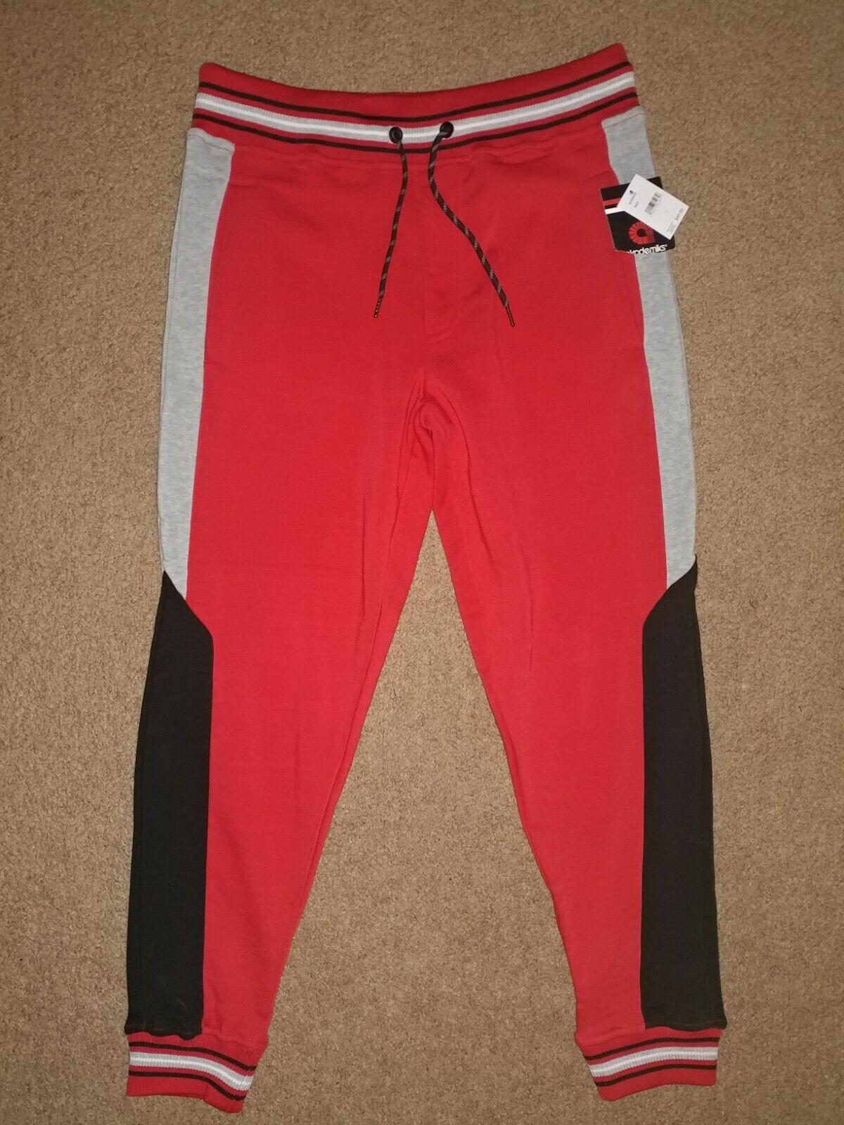 akademiks: Red/Black/Gray Jogger Sweatpants - Men's Size Large - NWT