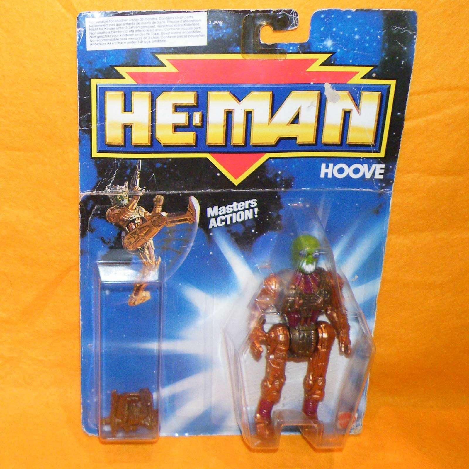 VINTAGE 1990 90s MATTEL MOTU NUOVE AVVENTURE DI HE-MAN Hoove figura MOC Cardato