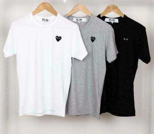 2019 NEW Garcons CDG Play Littel Black Heart Comme Des Short Sleeve Tee 4 colour