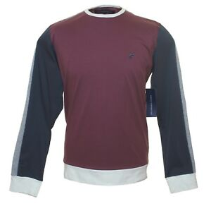 Bnwt-Men-039-s-Fcuk-French-Connection-Long-Sleeved-T-Shirt-Top-RRP-40-Maroon-New