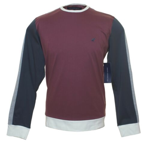 Bnwt Men/'s Fcuk French Connection Long Sleeved T Shirt Top RRP£40 Maroon New