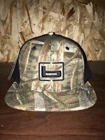 Banded Fitted Flat Bill Ball Cap Hat Max 5 Camo W/black Back Headwear Osfm on sale