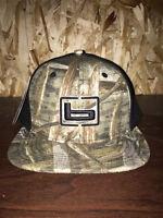 Banded Fitted Flat Bill Ball Cap Hat Max 5 Camo W/black Back Headwear Osfm on Sale