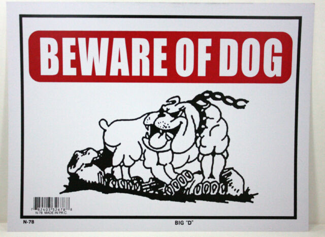 """BEWARE OF DOG  9""""X12"""" SIGN OFFICE STORE BUSINESS SHOP NO ADMITTANCE KEEP OUT"""