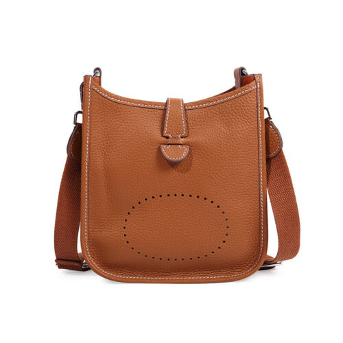 Women Genuine Leather Shoulder Bag Bucket Purse Fashion Handbag Daily Lady Bags