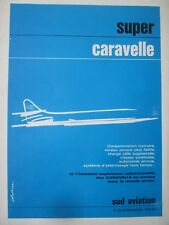 12/1964 PUB SUD AVIATION AVION SUPER CARAVELLE JETLINER AIRLINER FRENCH AD