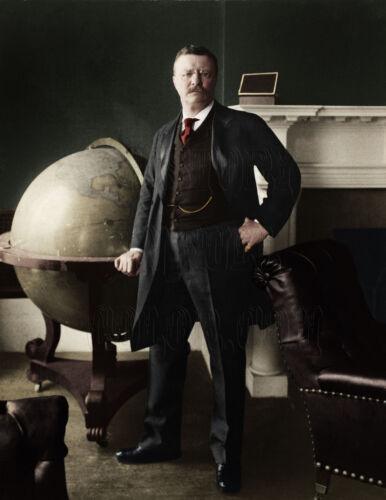 Theodore Roosevelt President Rough Rider Cowboy Bull Moose Big Stick Globe