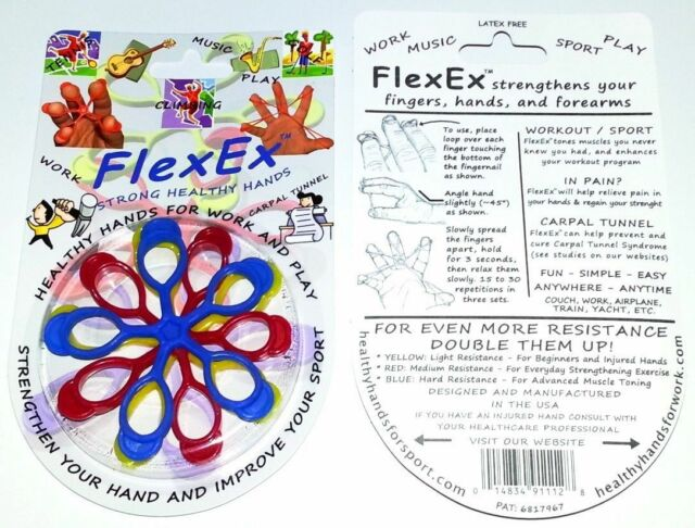 FlexEx Hand Exerciser - Made In USA Hand and Finger Strengtherner, Carpal Tunnel