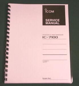 icom ic 7100 service manual 11 x 17 foldout diagrams full color rh ebay com icom ic 7100 user manual Icom IC- 7000