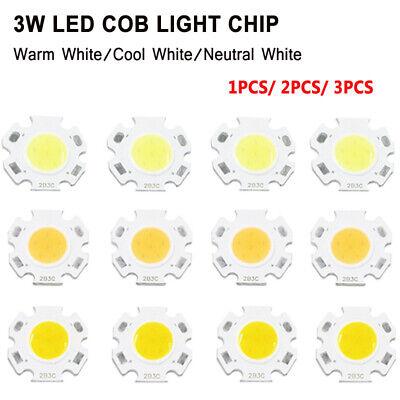 3W Super Bright Round LED Light Chip Hight Power DC 9-12V Floodlights 1X 2X 3X