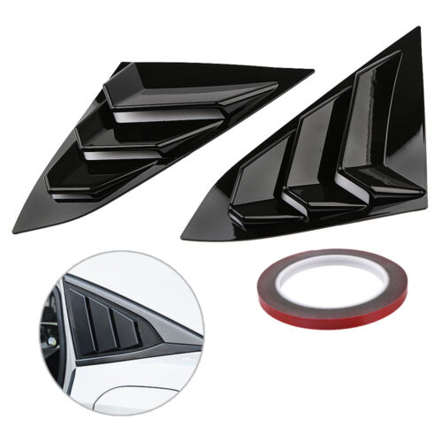 Quarter Window Louver Cover For Honda Civic 2016 2017 2018 ABS Side Vent Black