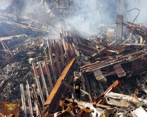 GROUND ZERO RUINS 9//11 11x14 SILVER HALIDE PHOTO PRINT