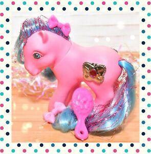 My-Little-Pony-MLP-G1-Vintage-Princess-PRIMROSE-Ruby-Tinsel-Butterfly-JEWEL