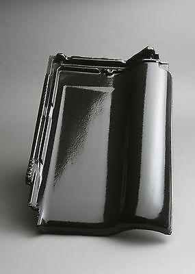 glasur / Flachdachziegel Tondachziegel Bescheiden Dachziegel M-plus Diamantschwarz