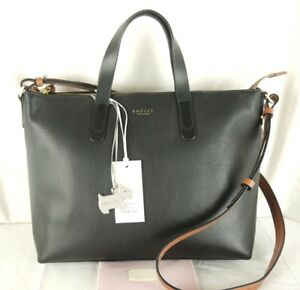 Image is loading Radley-Guildhall-Black-Leather-Multiway-Across-Cross-Body- 9a9b4f9f49373