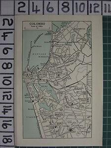 1959 INDIAPAKISTAN TOURIST MAP COLOMBO PLAN ENVIRONS PETTAH