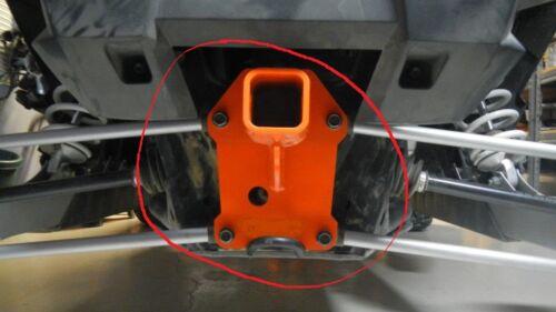 "2014 15 16 17 Polaris RZR RAZOR  1000  2/"" Receiver Hitch gusset plate Silver"