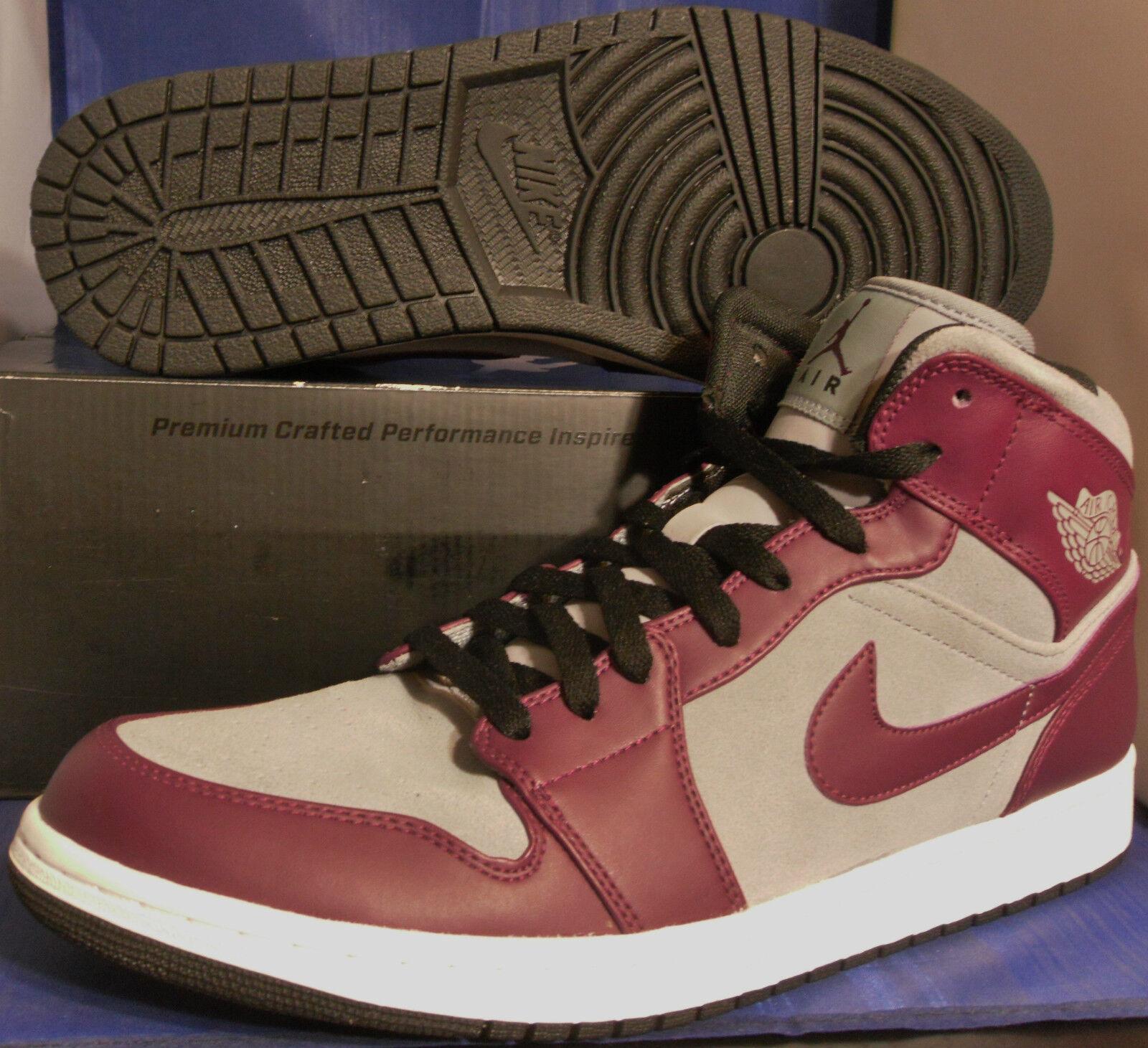 Nike air jordan 1 phat bordeaux stealth bianco nero retrò sz (364770-605)