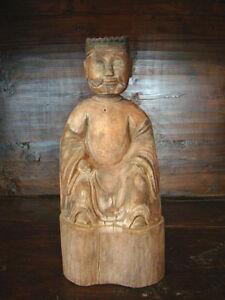 Antik-Skulptur-Holz-Unikat-Asiatika-China-HuNan-Asien