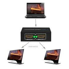 2 Output 1 Input HDMI Splitter Amplifier 2 Way Switch Box Hub For PS3 HDTV 1080P