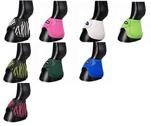 Tough-1-Extreme-Vented-Neoprene-No-Turn-Bell-Boots-Horse-Tack-Equine