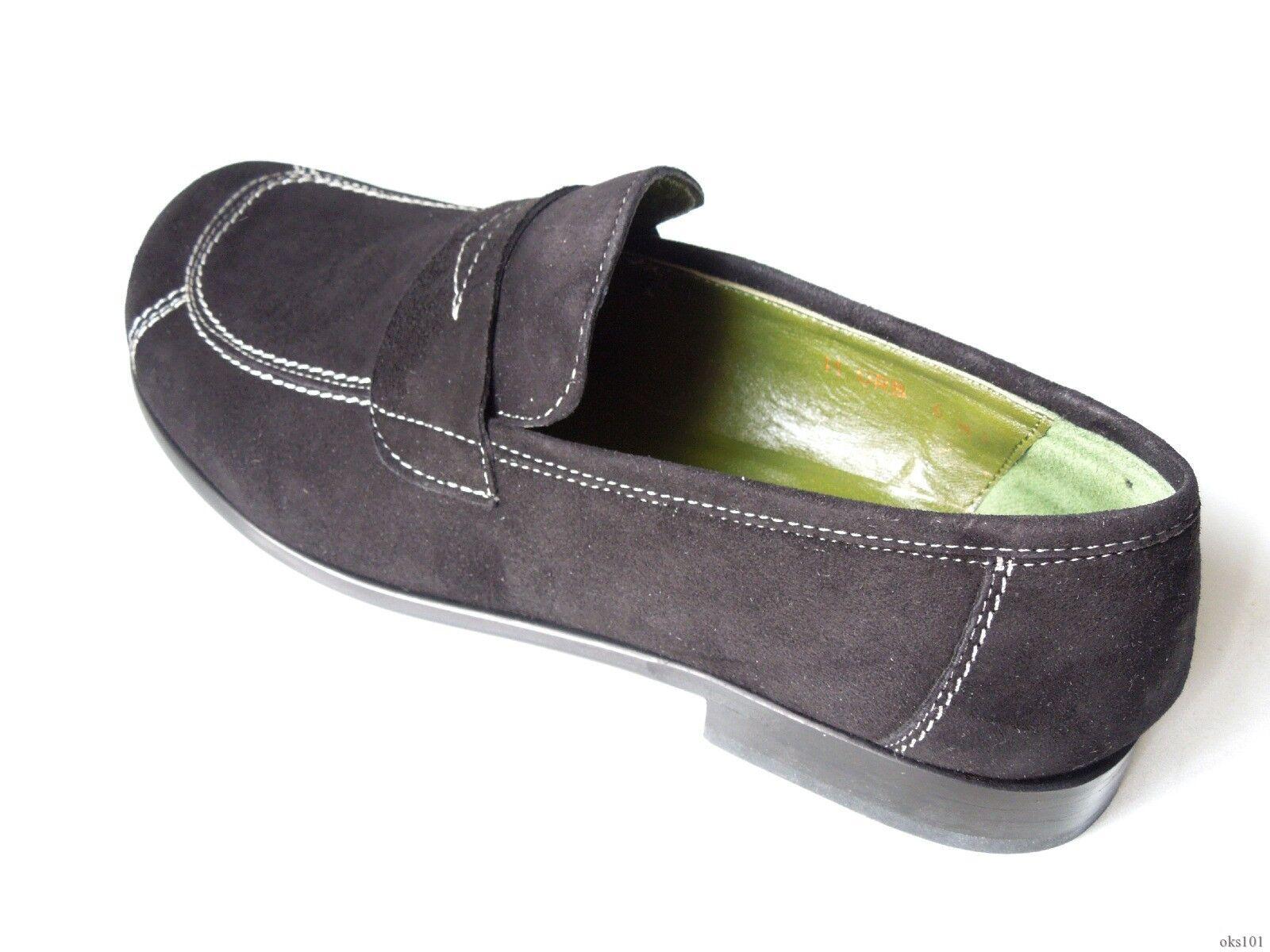 Nuevo Donald J Pliner Mocasines 'Urb' Zapatos Planos Mocasines Pliner De Gamuza Negro Made in  6 0437ff