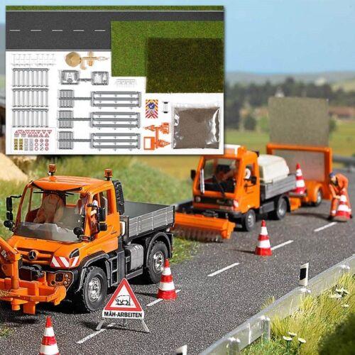 Busch 1166-1//87 Neu H0 Komplettset Strassengestaltung /& Mäharbeiten