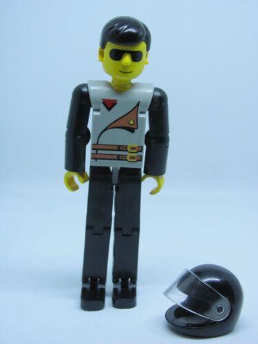 Light Gray Top 2 Brown Belts 8225 8229 8244 Lego tech030 @@ Figure Black Legs