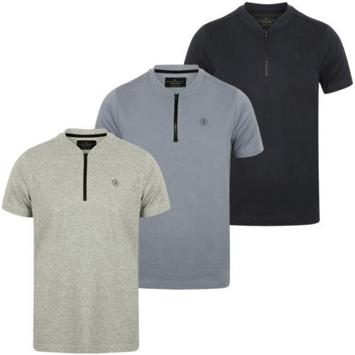 DNM Dissident Leith Baseball Herren Zip Tee Shirt Sport T-Shirt 1C10440 neu