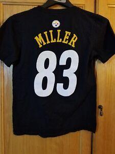 b5a5b6818 PITTSBURGH STEELERS  83 HEATH MILLER NFL Team Apparel TSHIRT Jersey ...