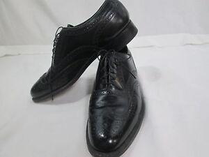 Florsheim-mens-s9-black-leather-wing-tip-dress-oxford-imperial-display-model