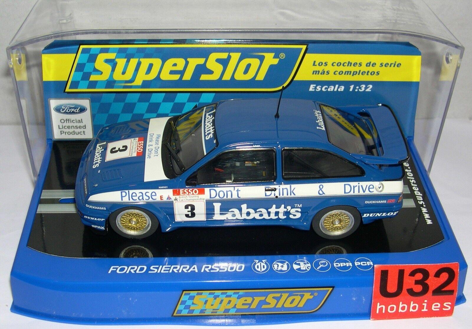 Superslot H3867 Ford Sierra RS500   3 Esso Rac Btcc Season 1990 Scalextric UK MB  prezzi bassi