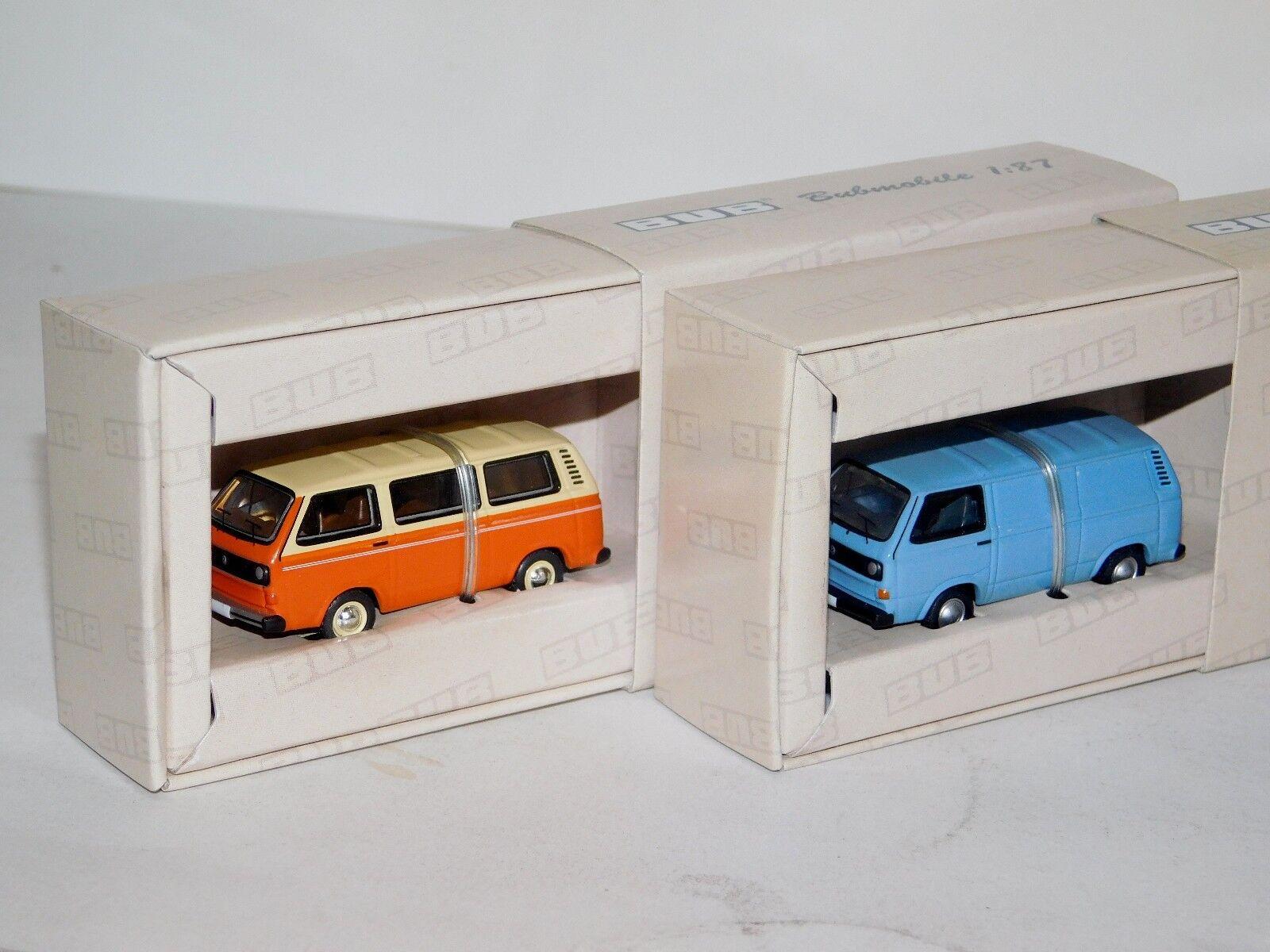 sorteos de estadio Lote de 2 Volkswagen Volkswagen Volkswagen T3A Bus naranja y T3A Kastenwagen Bub 9200 & 9250 1 87  descuento