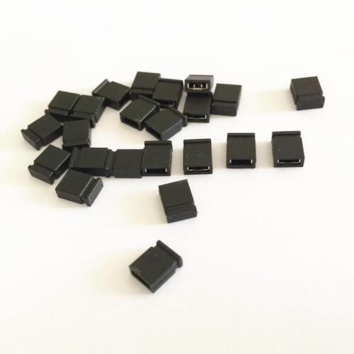 100Pcs 2.54mm Closed Pin Header Strip 2.54mm Standard Mini Jumper Caps Black