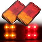 2x 12/24V Trailer Truck Lorry Caravan LED Rear Tail Brake Stop Turn Signal Light