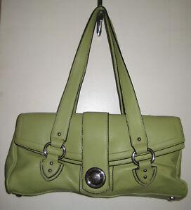 6ea58876e496 Marc Jacobs Light Green Leather Purse Push Clasp Satchel Shoulder ...