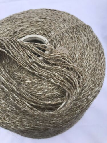 Lambs wool And Linen Natural Taupe 800g Cone.Hand//machine Knit//craft//crochet