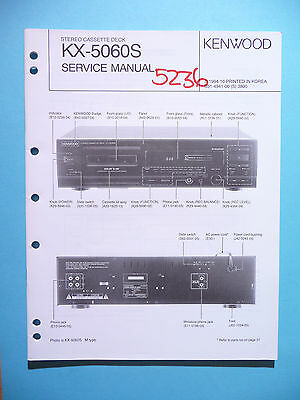 Kenwood Service Manual~KX-W4050 Cassette//Tape Deck//Player~Original