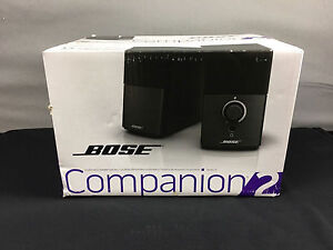 new bose companion 2 series iii multimedia computer speakers black version 3 17817602853 ebay. Black Bedroom Furniture Sets. Home Design Ideas